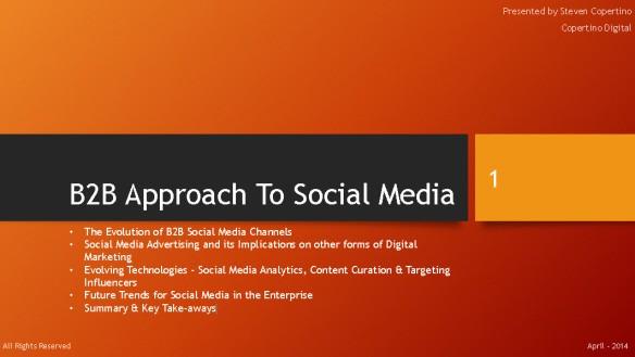 B2B Approach to Social Media